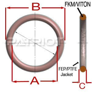 568 TEV FEP-VITON® O-Rings by Patriot Fluid Power