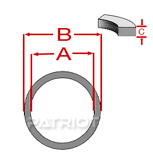 576 DELRIN/NYLON BACKUP-UP O-RING by Patriot Fluid Power
