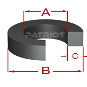 MB (MODULAR BU) BACKUP-UP O-RING by Patriot Fluid Power