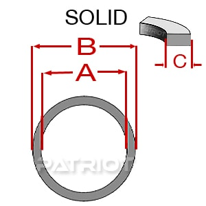 MBNU DELRIN/NYLON BACKUP-UP O-RING by Patriot Fluid Power