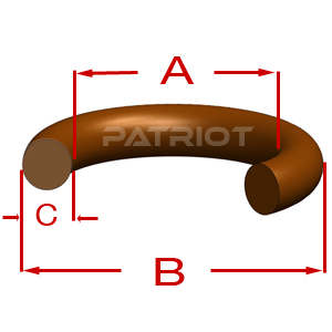 """568 BROWN FLUOROCARBON BV75 7-1/4"""" 7-3/4"""" 1/4"""" 1/4"""" brought to you by Patriot Fluid Power"""