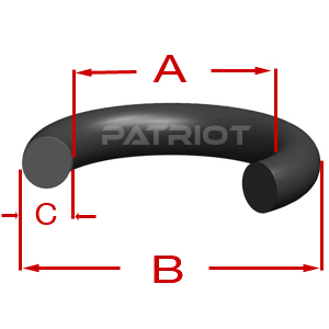 "568 NEOPRENE C70 9-1/2"" 9-11/16"" 3/32"" 3/32"" brought to you by Patriot Fluid Power"