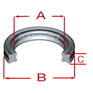 """X-RING QR BN70 3-3/8"""" 3-3/4"""" 3/16"""" 3/16"""" brought to you by Patriot Fluid Power"""