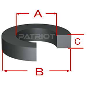"""SQUARE CUT RING SR BN70 6 6.375 0.187 3/16"""" brought to you by Patriot Fluid Power"""