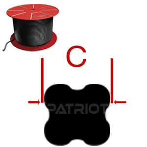 "X-RING CORD QRC BN70 1/2"" 0.5 brought to you by Patriot Fluid Power"
