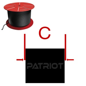 """SQUARE CUT SRC BN70 5/16"""" 0.313 brought to you by Patriot Fluid Power"""