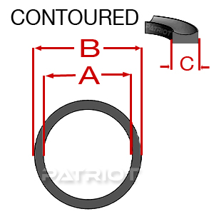 """BU BN90 1-3/8"""" 1-5/8"""" 0.05 1/8"""" brought to you by Patriot Fluid Power"""