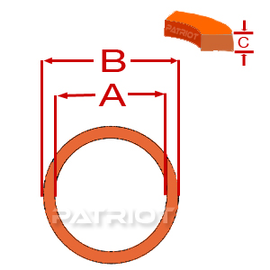 """BU HYTREL 3-1/4"""" 3-5/8"""" 0.076"""" 3/16"""" brought to you by Patriot Fluid Power"""