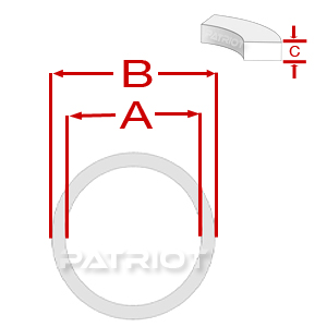 """TBU PTFE 2-3/8"""" 2-3/4"""" 0.0625 0.187 brought to you by Patriot Fluid Power"""